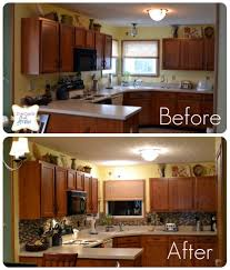 Small Kitchen Decorating Ideas On A Budget by Before And After Kitchen Remodels On Trends Also Small Makeovers A