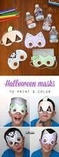 halloween masks print color halloween masks halloween
