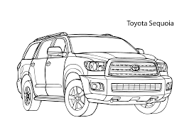super car toyota sequoia coloring page cool car printable free