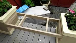 Deck Wood Bench Seat Plans by Planter Box Bench Youtube