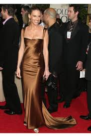 Red Carpet Gowns Sale by Swank Satin Red Carpet Dress For Sale At Golden Globes 2005
