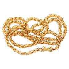gold braided chain necklace images Georgian twisted and braided gold chain with hand clasp for sale jpg