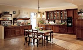 Classic Kitchen Cabinet With Wooden Table And Chairs - Classic kitchen cabinet