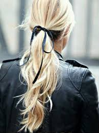 ribbon ponytail why don t you tie your hair with a ribbon we believe in style