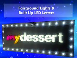 led sign lighting options trough swan neck sign tray light box