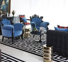 Blue And Black Rug Color Scheme Black And Blue Eclectic Living Home