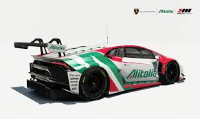 lamborghini race cars lamborghini huracan gt3 alitalia tribute motorsport livery by
