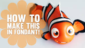 nemo cake toppers how to make nemo from finding nemo cake decorating tutorial