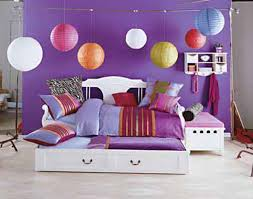 Bedroom Decorating Ideas With Purple Walls Endearing Bedroom Decorating Ideas For Girls With Wall Book Rack