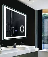 Bathroom Mirror With Clock Bathroom Led Mirrors Illuminated Infra Bathroom Mirror
