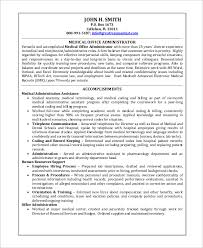 Administrative Assistant Sample Resume by 28 Medical Administrative Assistant Sample Resume Medical