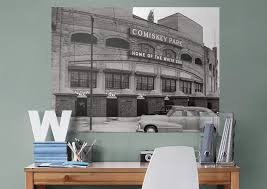 chicago white sox comiskey park historic mural wall decal shop chicago white sox comiskey park historic fathead wall mural