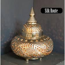 medium moroccan ethnic lamp leaf pattern side table floor lamp
