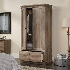 Armoire Chest Of Drawers Sauder Barrister Salt Oak Armoire 418891 The Home Depot