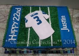 Seahawks Decorations Seahawks Birthday Cake Hand Cut Fondant Decorations Over