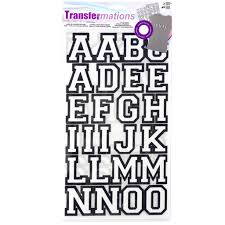 transfermations iron on letters athletic 1 5