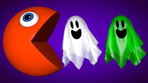 learn colors with pacman and funny halloween ghosts for kids