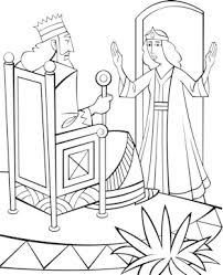 free bible coloring pages queen esther