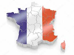 map of france in french flag colors u2014 stock photo maxxyustas