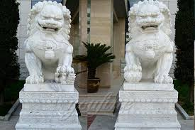 foo dogs for sale lawn ornaments decoration carving large white marble foo dogs
