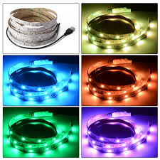 3m 5m usb tv backlight rgb led strip color changing ambient light