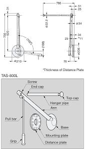tas tallman single pull down closet rod alema hardware