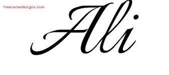 ali archives free name designs