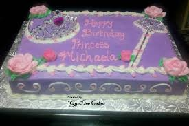 princess cake with crown tiara and wand 1 2 sheet chocolate