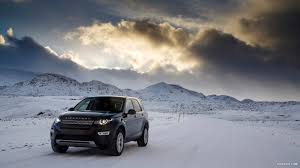 land rover discovery 2015 black 2015 land rover discovery sport barolo black in snow front