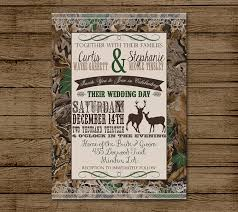 camouflage wedding invitations customized wedding invitation camo deer camouflage couples