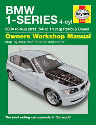 haynes garage quality car repair manual book for bmw 1 series 4
