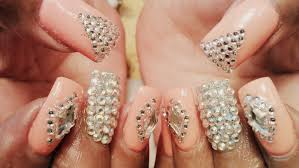 fancy gel color diamond nail art designs tutorial youtube