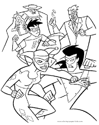 villains batman color cartoon characters coloring pages