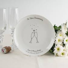 20th wedding anniversary personalised bone china plate on your anniversary