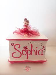 personalized ballerina jewelry box personalized jewelry box gift for a girl flower girl gift idea