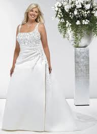 robe mari e grande taille robe de mariage grande taille en satin broderie perles look1139