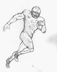 how to draw football players football player drawings