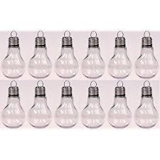 set of 75 acrylic fillable light bulb shaped ornaments