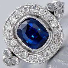 art deco rings vivid 1 93ct ceylon sapphire ring