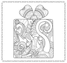 christmas gift coloring present coloring