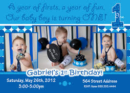 Create 1st Birthday Invitation Card For Free Birthday Invites Excellent Baby Boy First Birthday Invitations