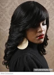medium long flipped hair flipped out black hair style
