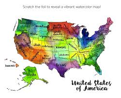 United States America Map by Amazon Com Jetsettermaps Scratch Your Travels United States Of