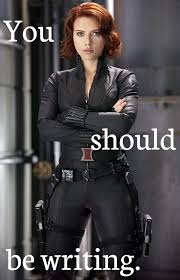 Black Widow Meme - black widow scarlett johansson you should be writing png you