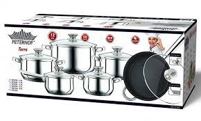 batterie cuisine en batterie de cuisine en inox s s 12pcs peterhof ph 15799 la coop