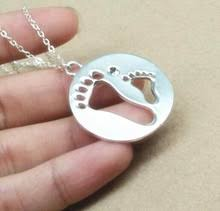 footprint necklace personalized online get cheap baby footprint necklace aliexpress alibaba