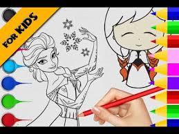 draw u0026 color frozen elsa u0026 anna princess colored