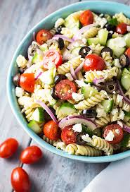 pasta salad recipe easy greek pasta salad the blond cook