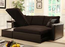 Sleeper Sofas For Small Spaces Furniture Fabulous Espresso Leather Sleeper Sectional Sofa For