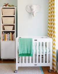 Yellow Curtains Nursery Light Blue Boy Nursery With Yellow Chevron Curtains Contemporary